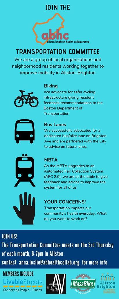 Transportation Committee flyer