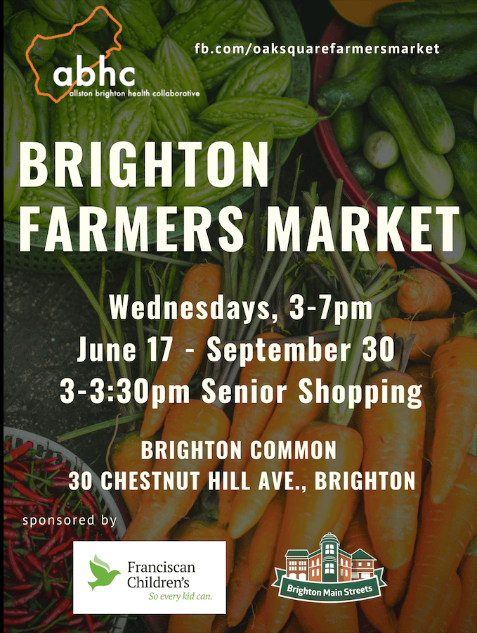 Brighton Farmers Market flyer